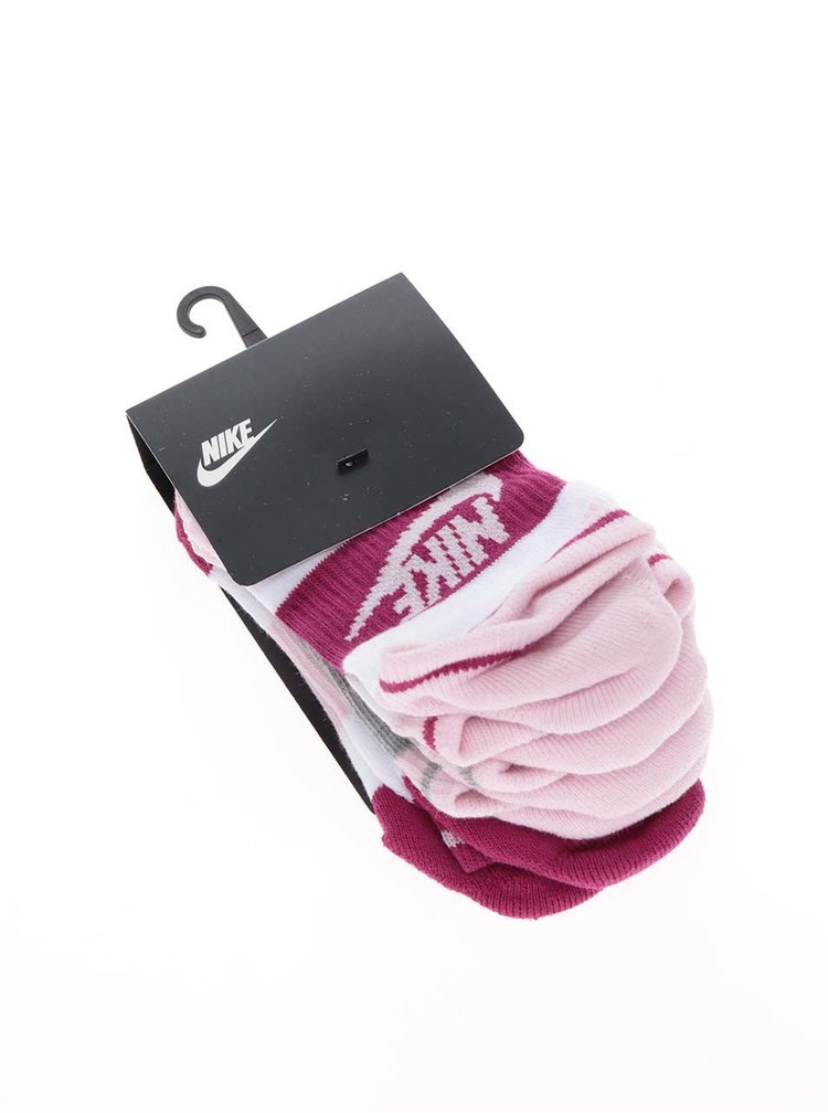 Set 3 perechi de sosete cu model Nike No Show