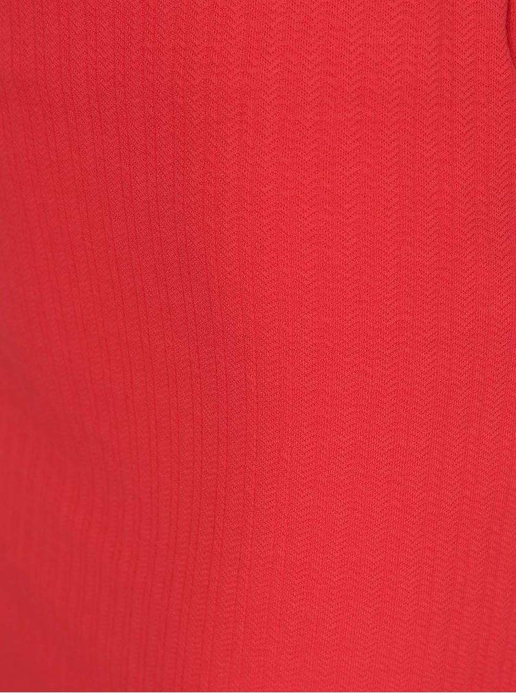 Červená pouzdrová sukně s jemným vzorem VERO MODA Ellie