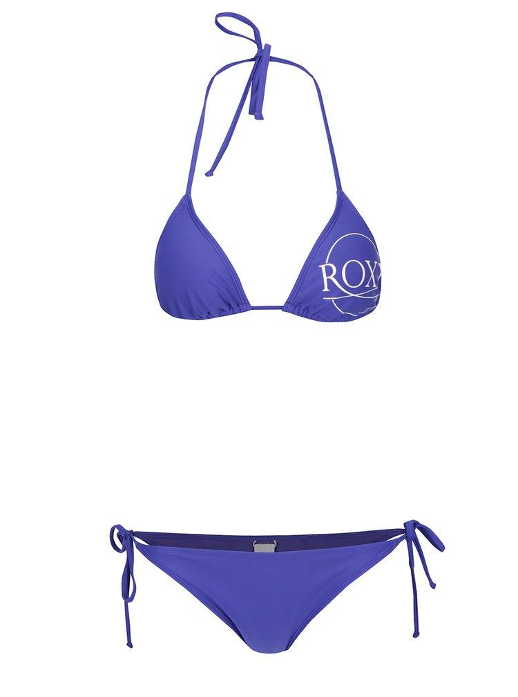 Costum de baie din 2 piese albastru Roxy Mix cu print