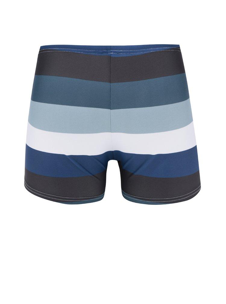 Černo-modré pánské pruhované plavky Quiksilver Mapoo