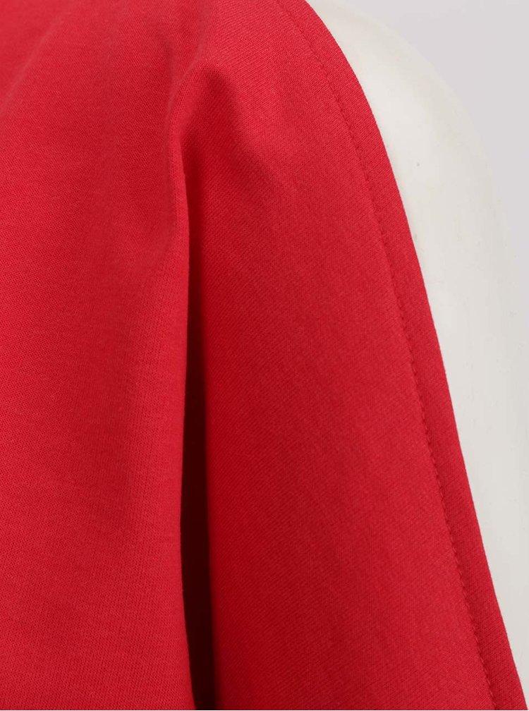 Červená volná lehká mikina s průstřihy na ramenou VERO MODA Vippy