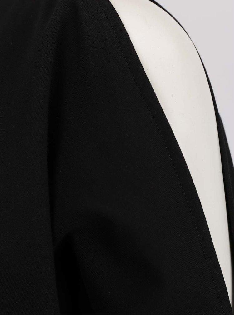 Černá volná lehká mikina s průstřihy na ramenou VERO MODA Vippy
