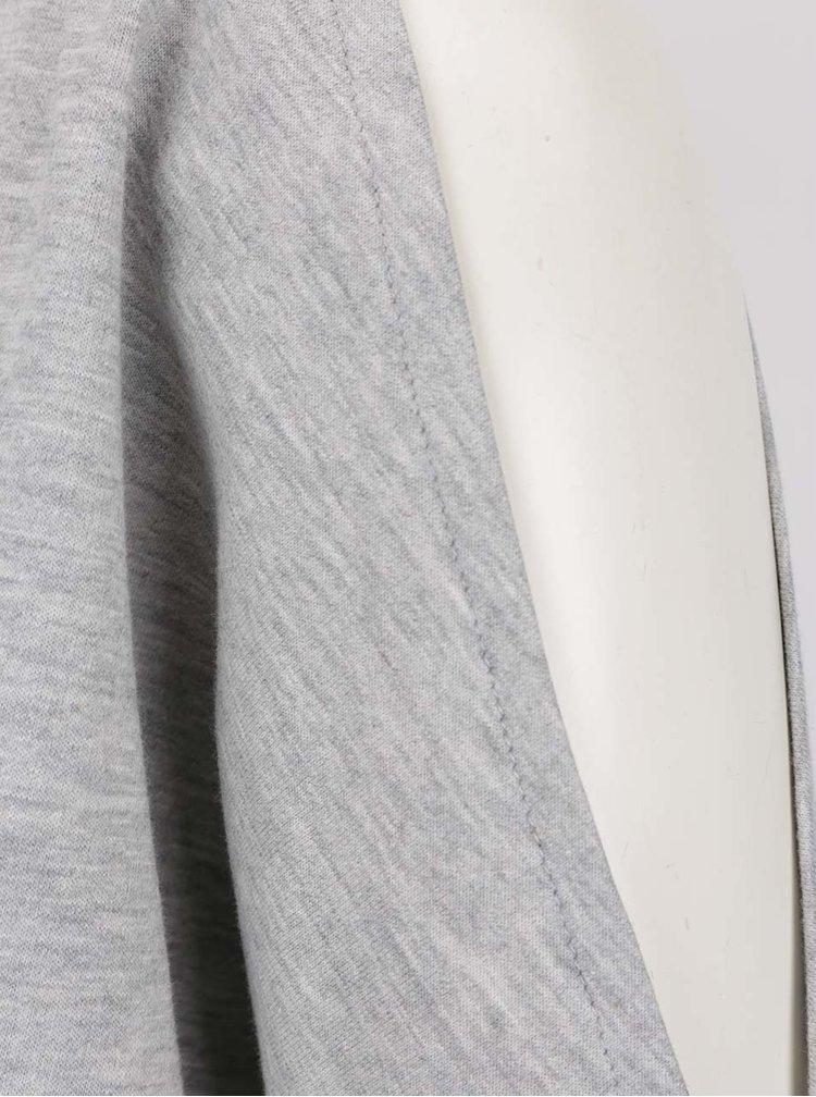 Světle šedá volná lehká mikina s průstřihy na ramenou VERO MODA Vippy