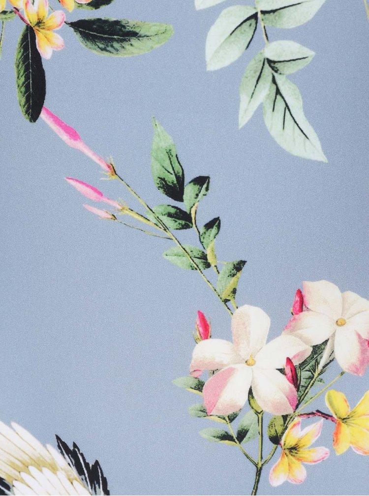 Costum de baie  bleu  intreg  Y.A.S Crane cu imprimeu floral