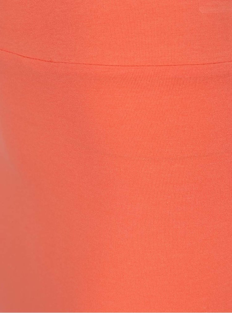 Korálová maxi sukně s rozparkem VILA Honesty