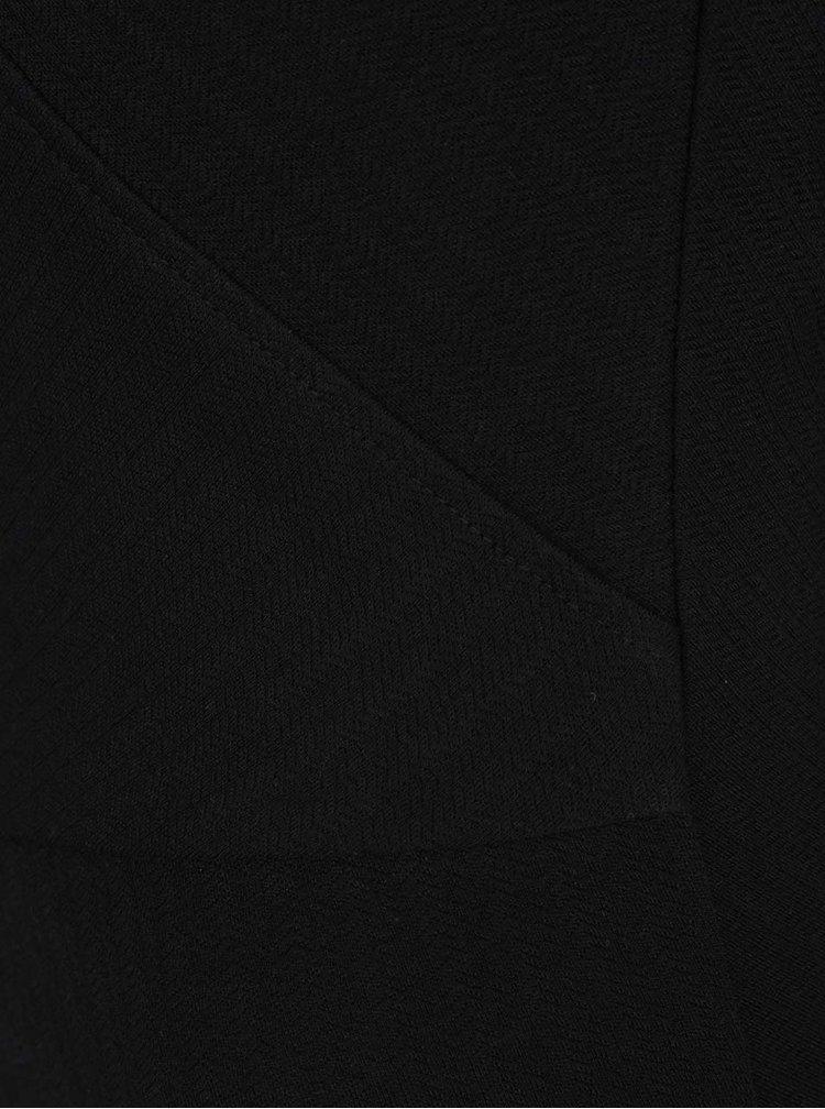 Černé pouzdrové šaty s jemným vzorem VERO MODA Ellie