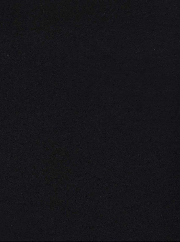 Černá halenka bez rukávů VERO MODA Satino