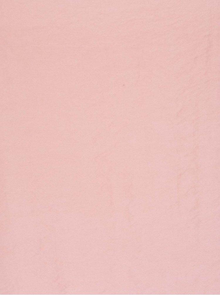 Světle růžová halenka bez rukávů VERO MODA Satino