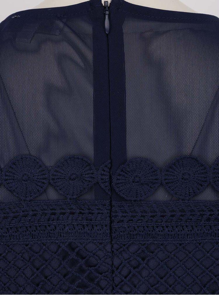Rochie albastru închis Apricot din dantelă