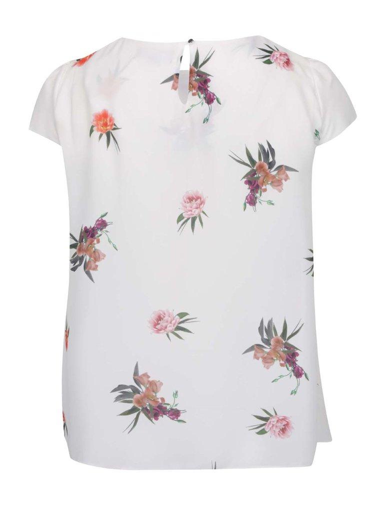 Tricou crem Dorothy Perkins Curve cu imprimeu floral