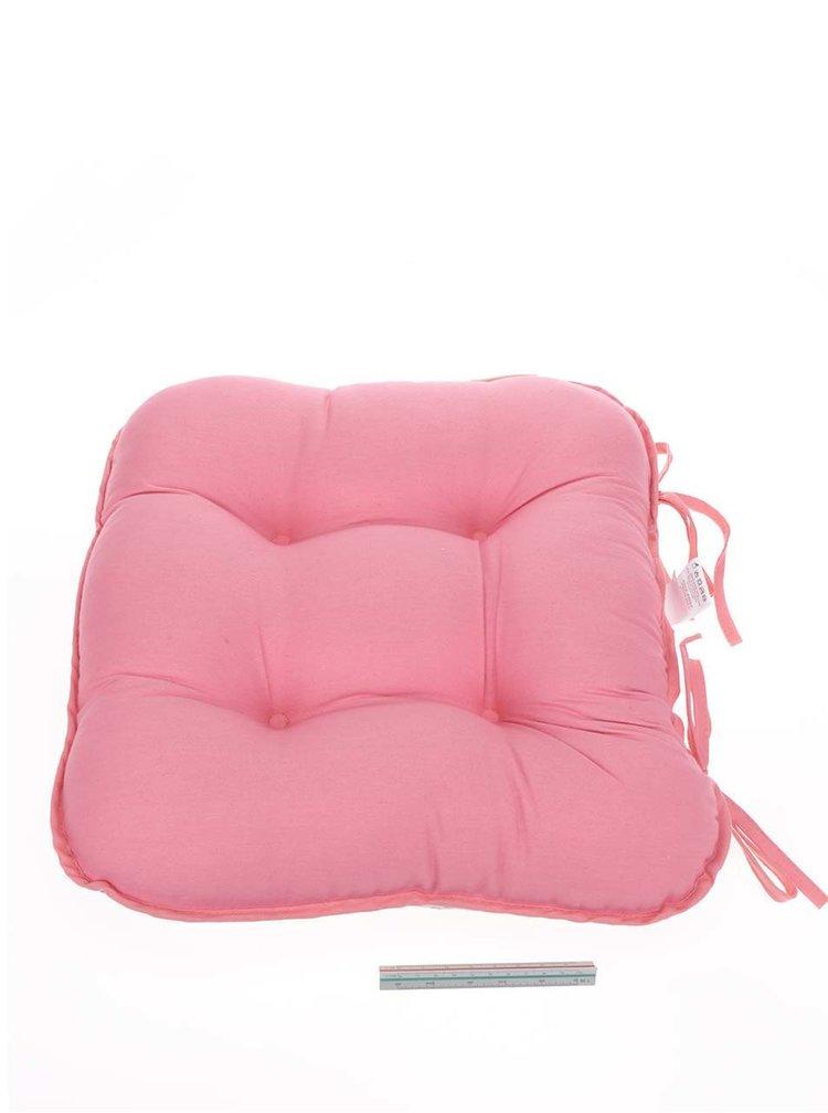 Růžovo-krémový květovaný oboustranný podsedák na židli Cooksmart
