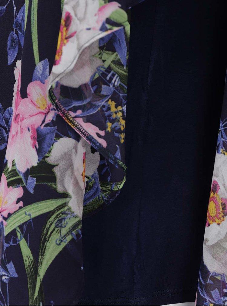 Tmavě modrá asymetrická halenka Billie & Blossom Curve