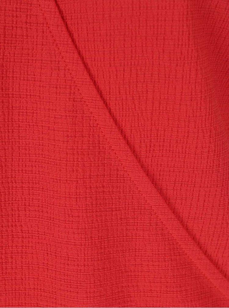 Červená halenka s véčkovým výstřihem Dorothy Perkins