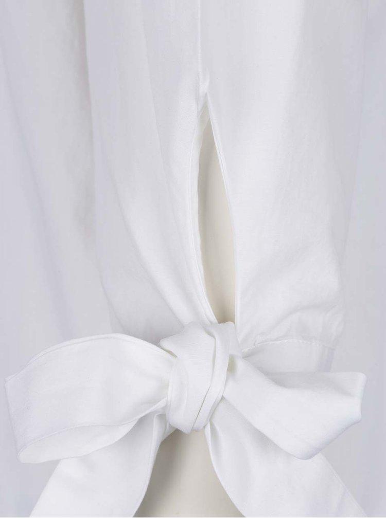 Bílá halenka s odhalenými rameny a výšivkou Dorothy Perkins