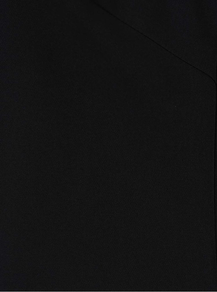 Černé volné šaty s výstřihem na zádech VERO MODA Frally