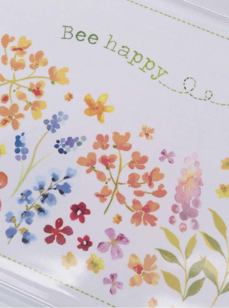 Krémový tác s motivem květin Cooksmart