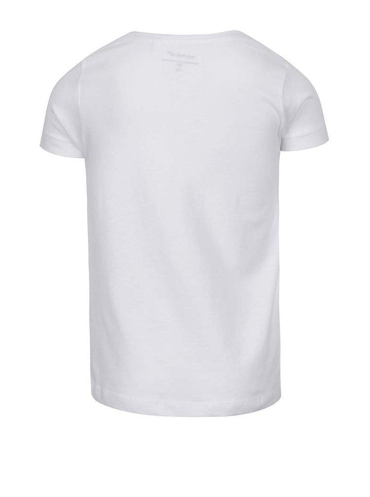 Bílé holčičí tričko s potiskem name it Janine