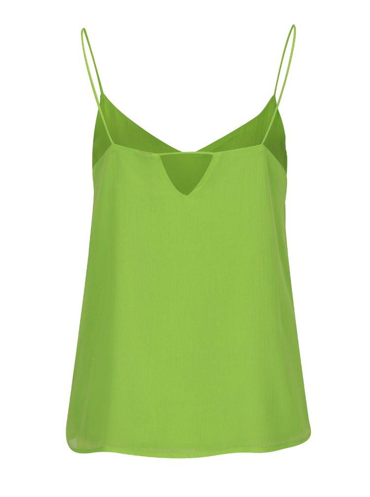 Zelená volná top s průstřihem na zádech VERO MODA Jenna