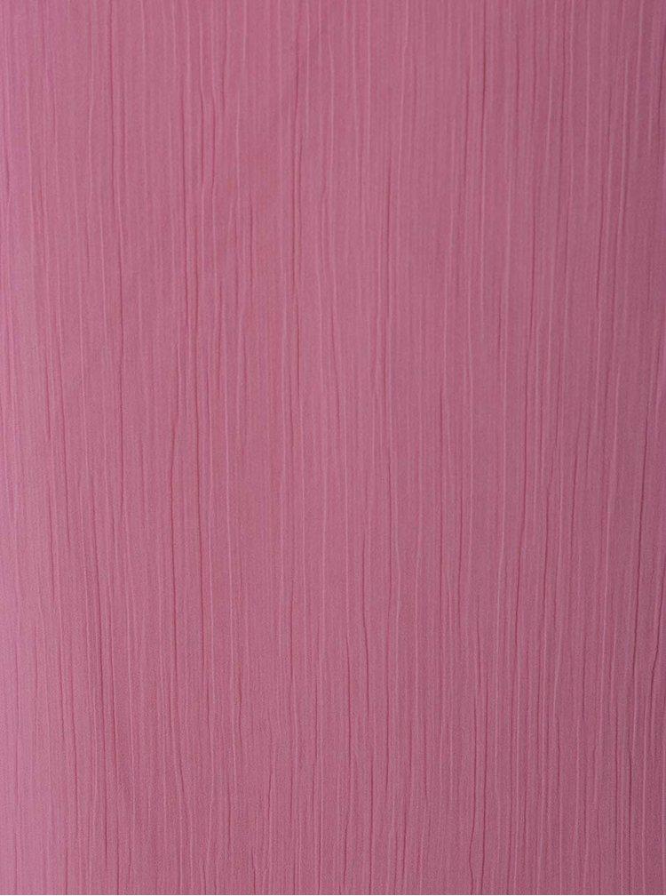 Růžová volná halenka s průstřihem na zádech VERO MODA Jenna