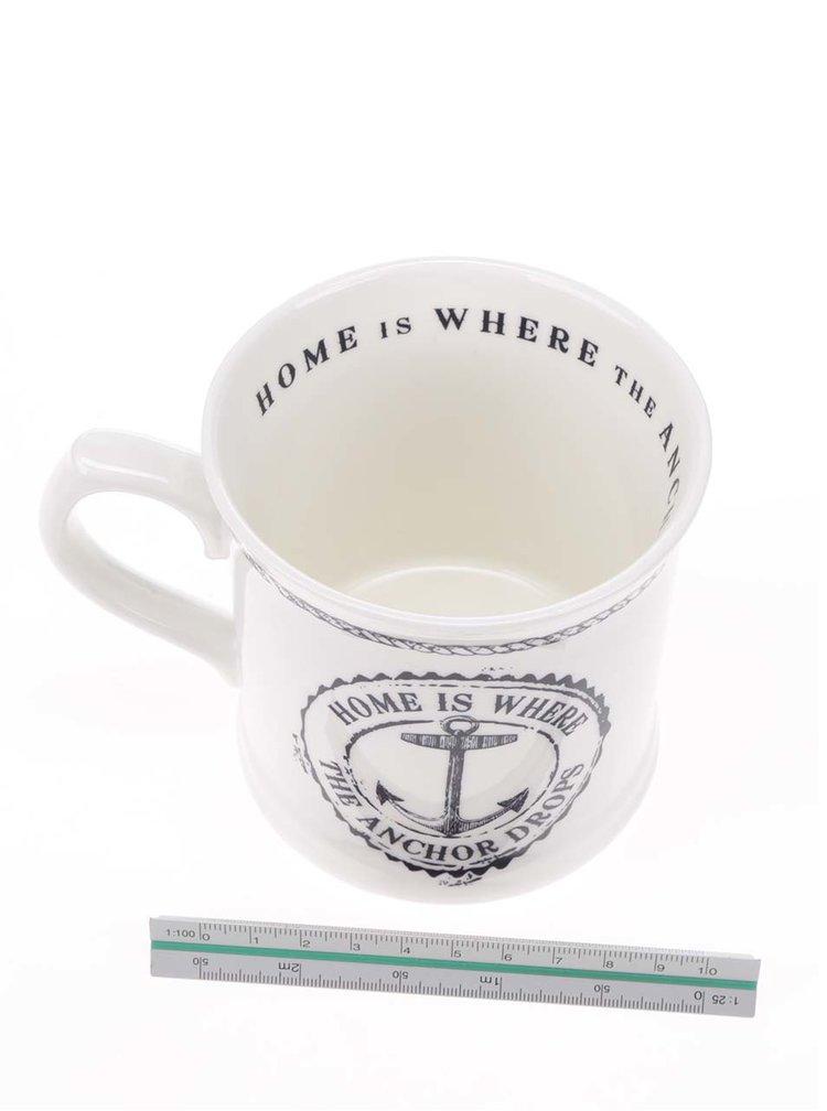 Krémový porcelánový hrnek s motivem kotvy Cooksmart