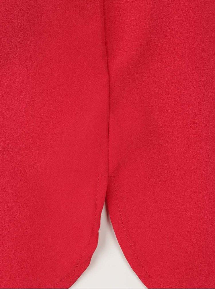 Červená halenka bez rukávů s véčkovým výstřihem VERO MODA Miami