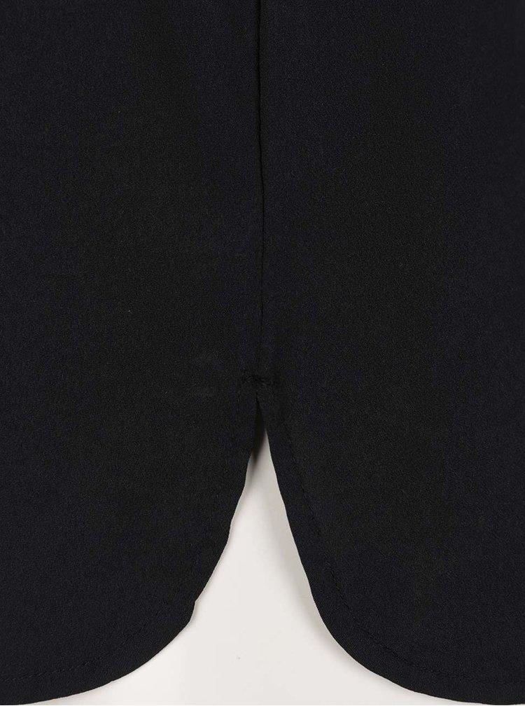 Černá halenka bez rukávů s véčkovým výstřihem VERO MODA Miami