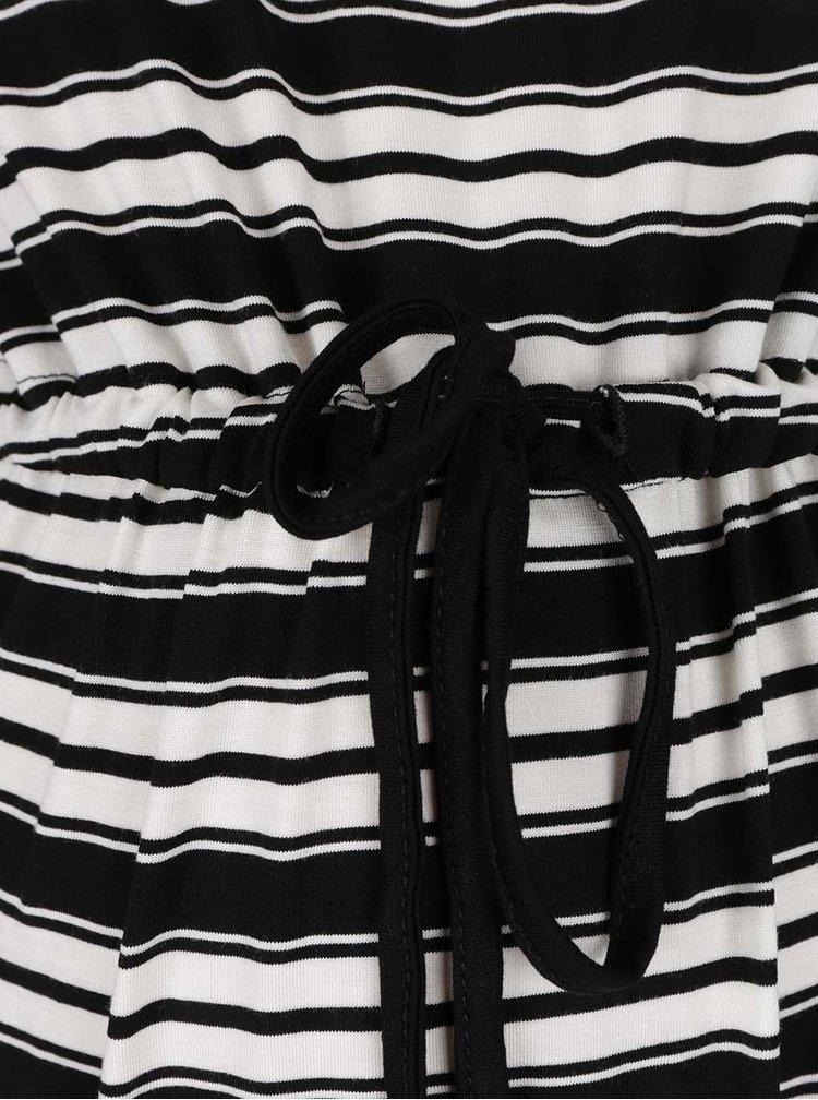 Rochie crem&negru Dorothy Perkins Maternity cu model in dungi