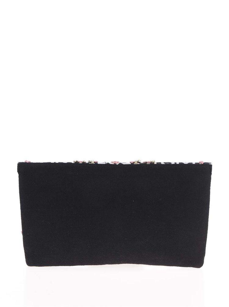 Geanta crossbody negru& roz  Pieces Kalani cu model cu margele