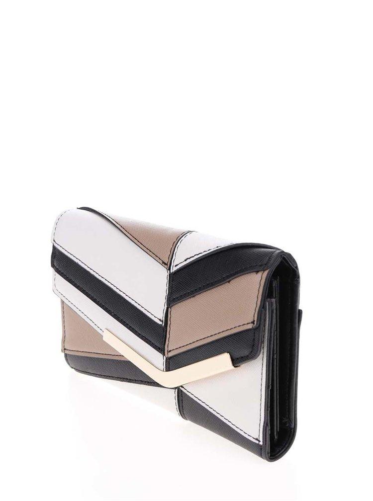 Hnědo-krémová peněženka Dorothy Perkins