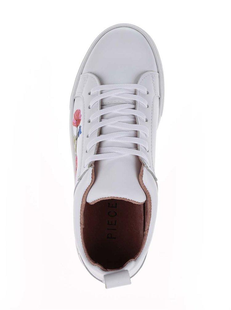 Pantofi sport crem Pieces Paulina din piele