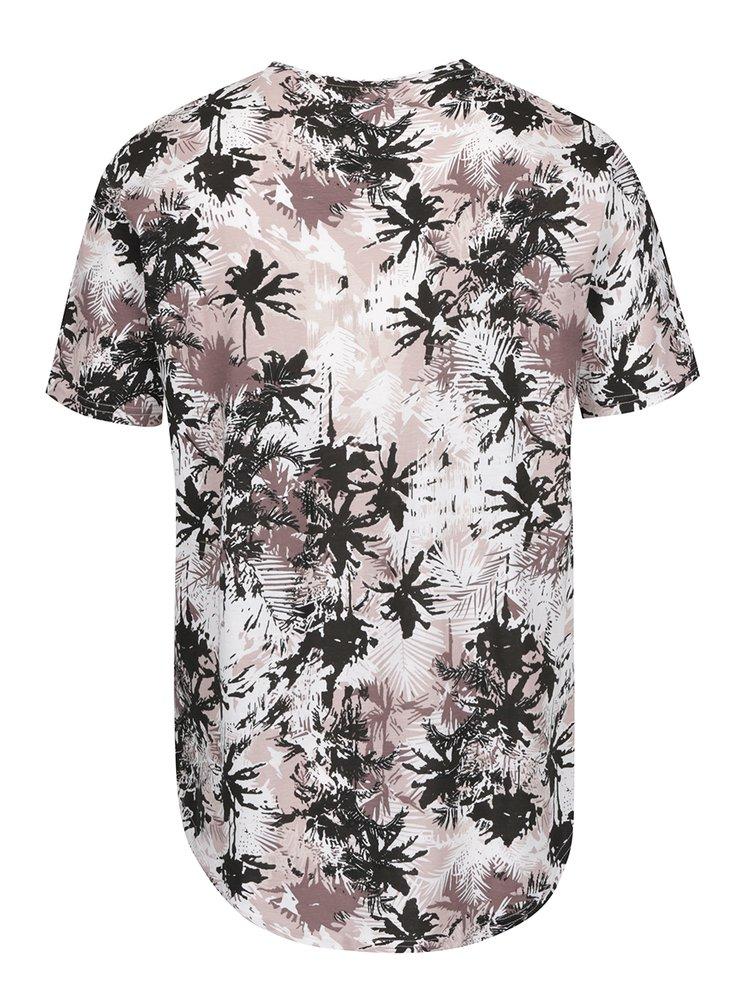 Tricou maro ONLY & SONS Matty cu imprimeu floral