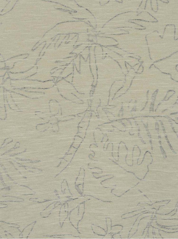 Tricou kaki ONLY & SONS Silas cu imprimeu floral discret