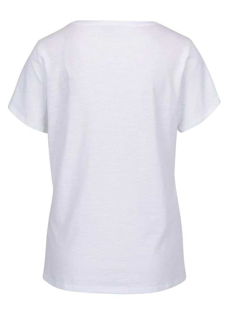 Bílé tričko s potiskem plameňáků ONLY Puff