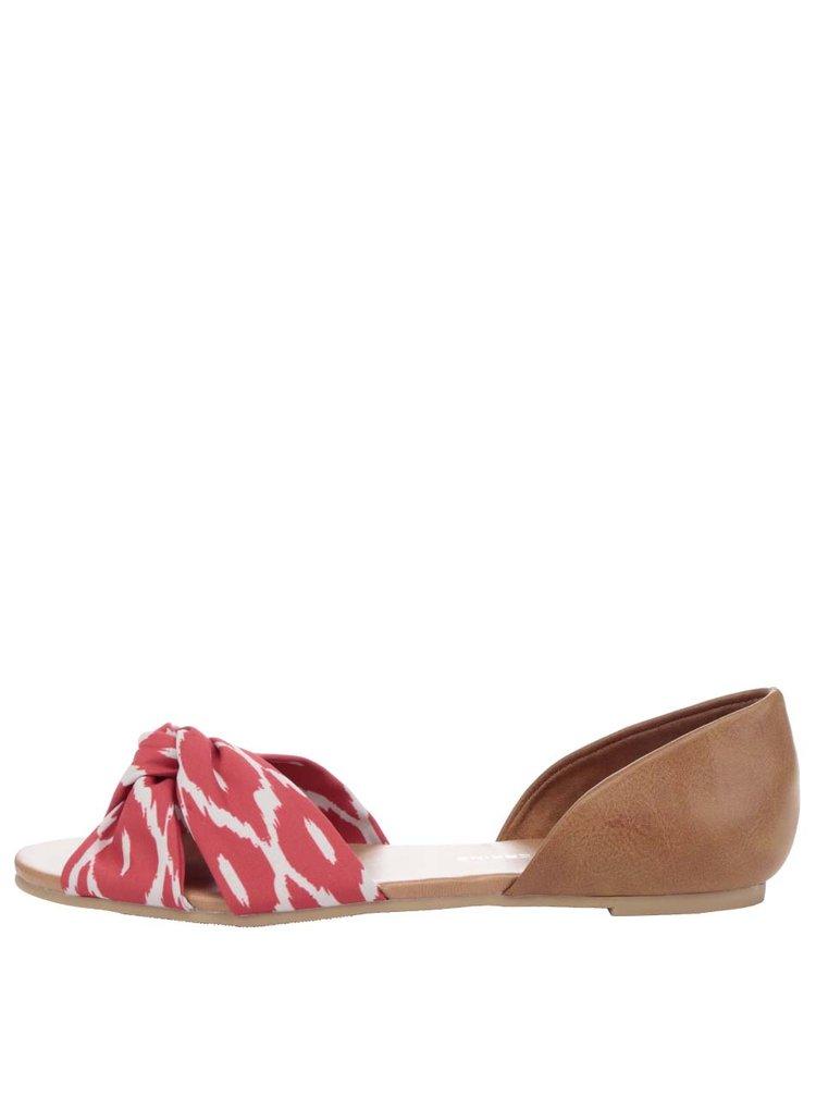 Sandale maro Dorothy Perkins cu imprimeu
