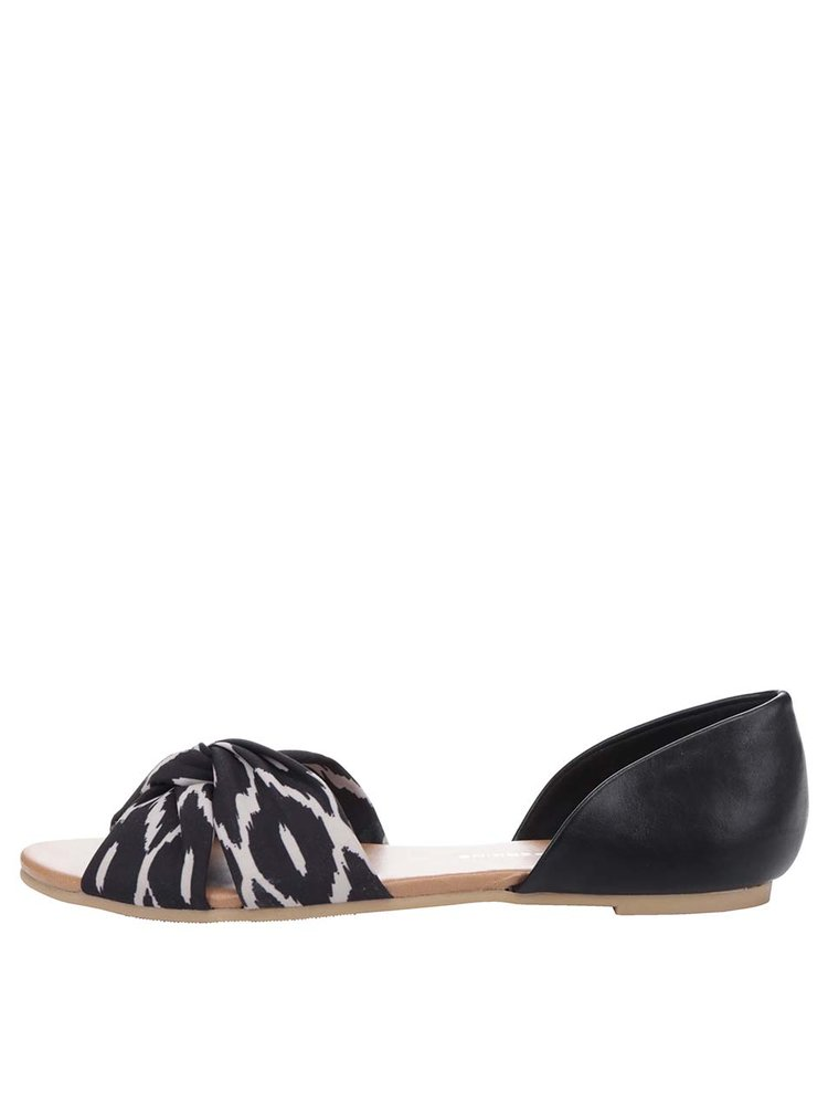 Černé vzorované sandály Dorothy Perkins