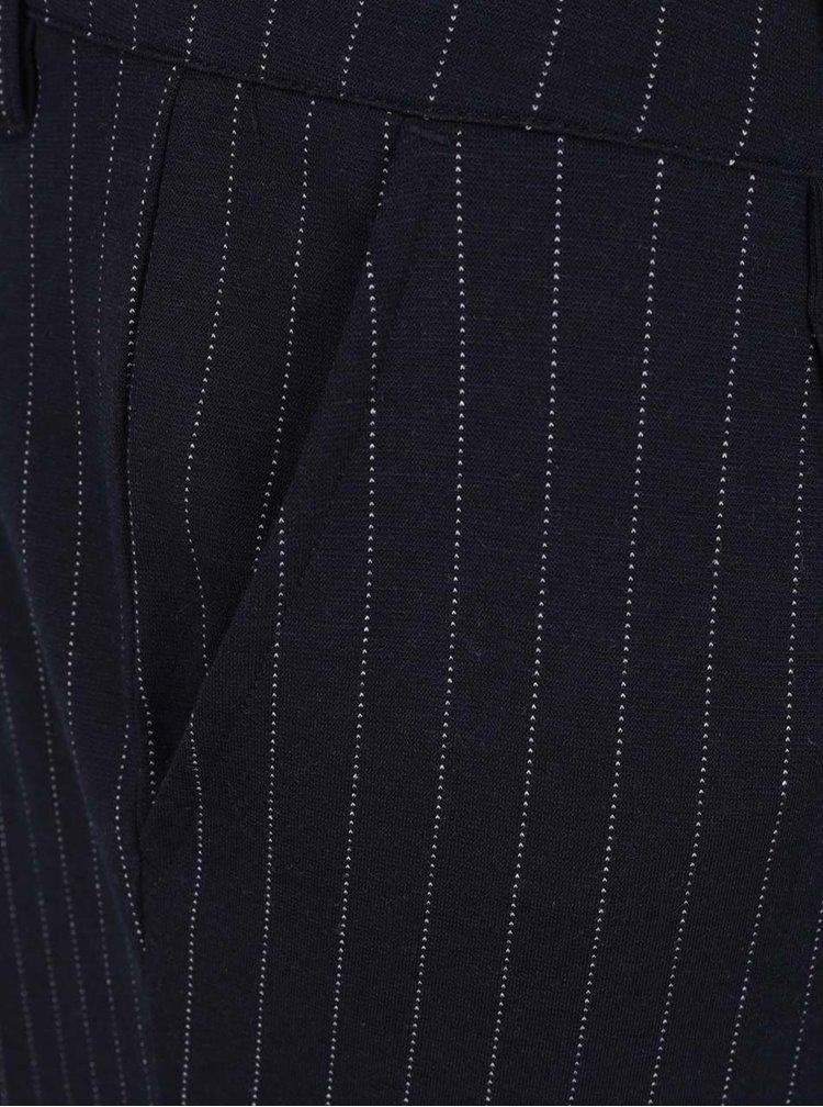 Tmavě modré pruhované zkrácené chino kalhoty ONLY & SONS Pin