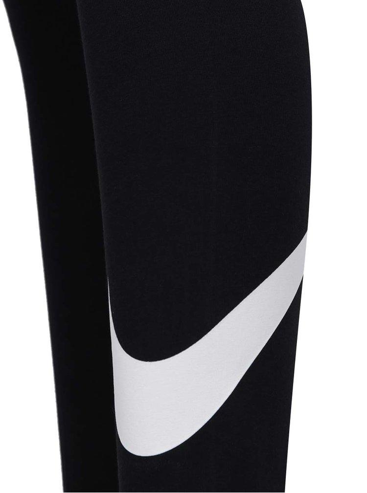 Colanți negri  Nike Sportswear personalizați cu logo