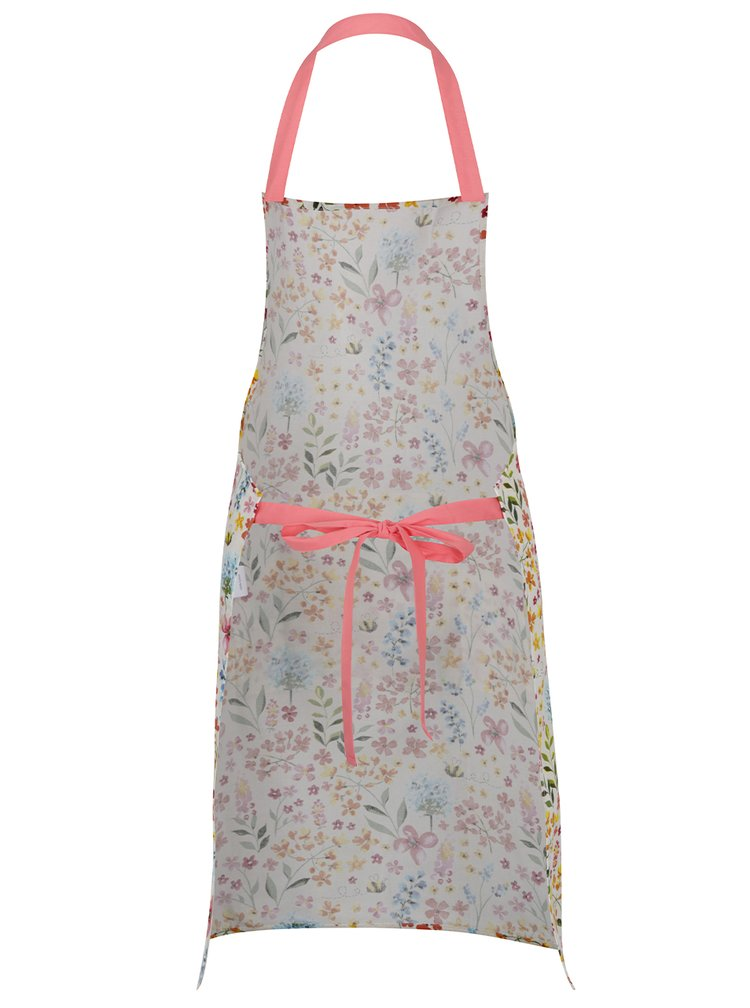 Růžovo-krémová květovaná zástěra Cooksmart