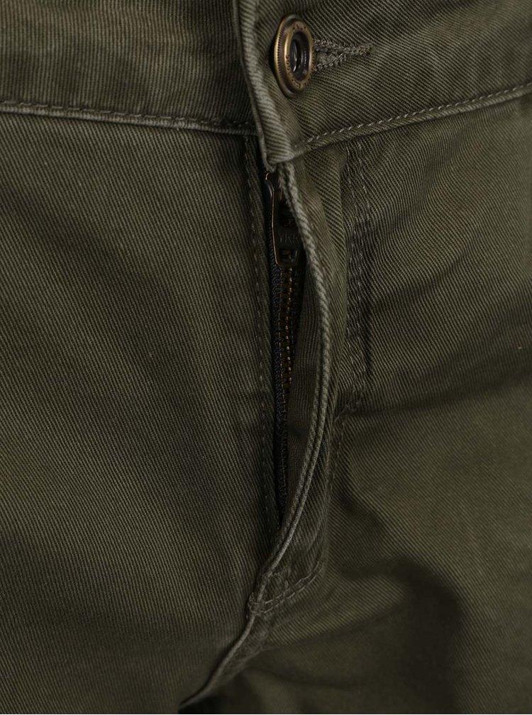 Pantaloni scurti kaki ONLY Brea cu aspect uzat