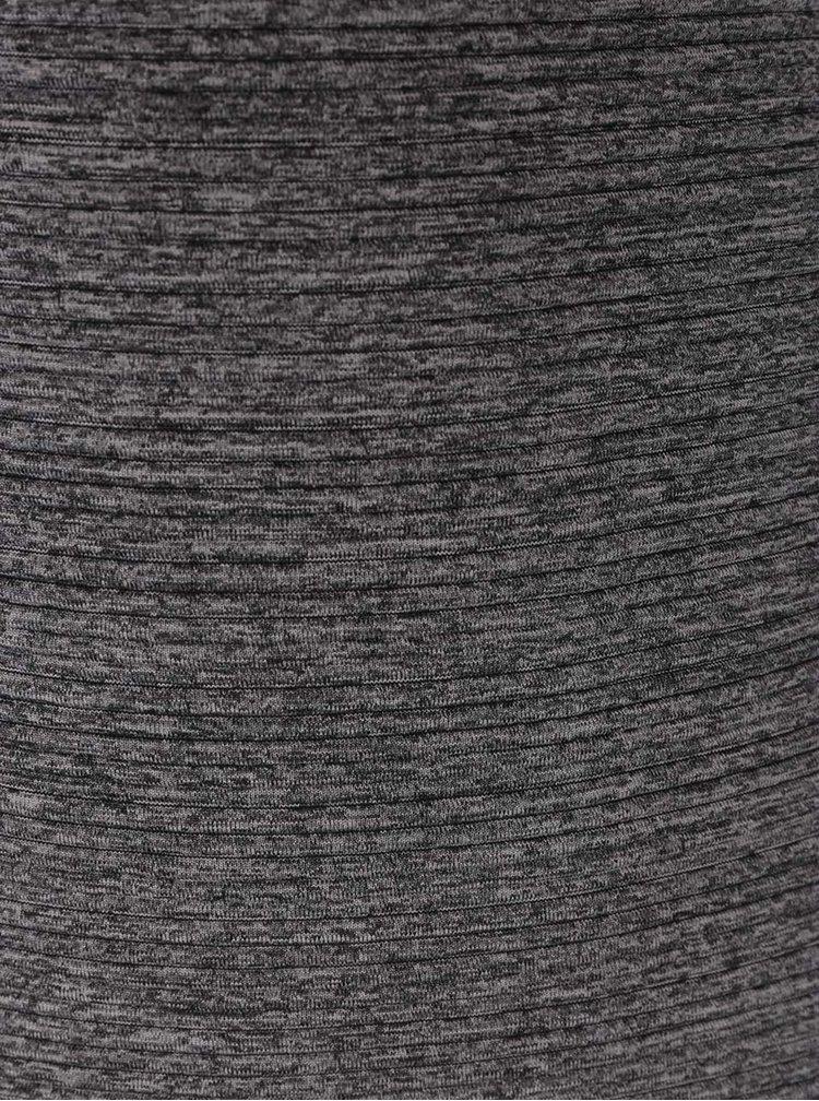 Šedý žíhaný žebrovaný kardigan ONLY Leco