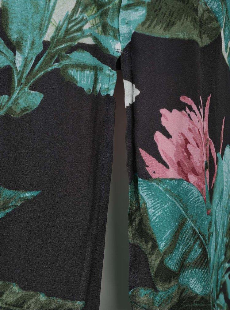 Rochie gri&verde ONLY Mina cu imprimeu floral