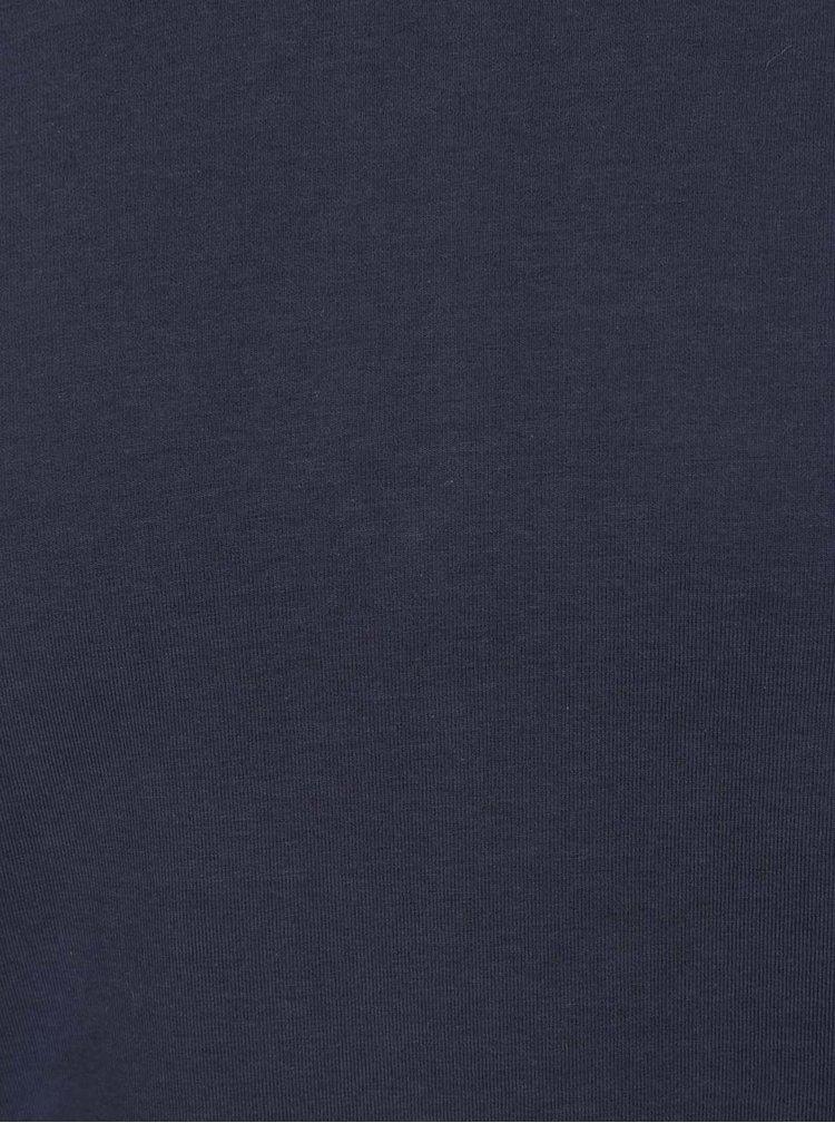 Bluză albastru închis Jack & Jones Basic cu mânecă lungă