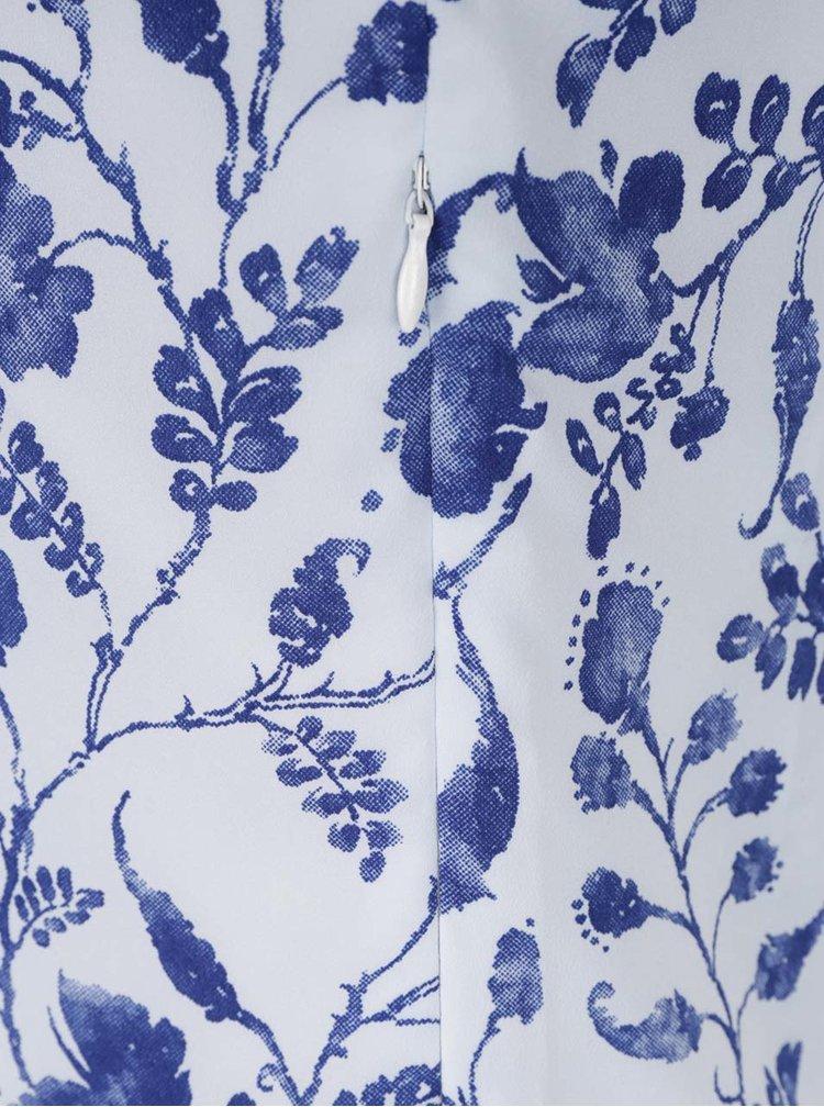 Růžovo-modré květované šaty Pretty Girl