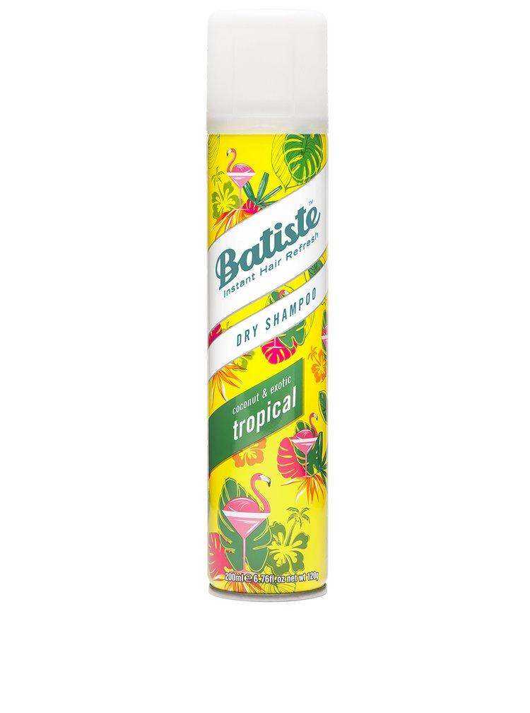 Bílé tričko s potiskem Batiste Tropical + DÁREK: suchý šampon