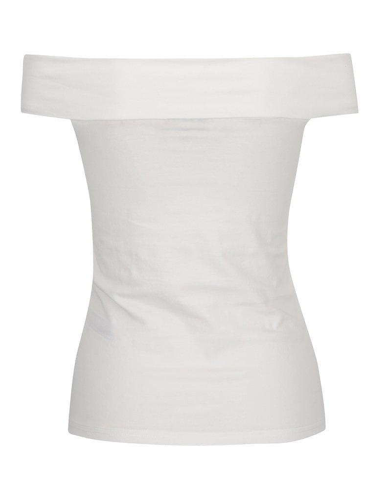 Krémové dámské tričko s odhalenými rameny Broadway Fion