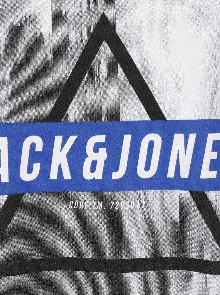 Tricou gri deschis Jack & Jones Mango cu print