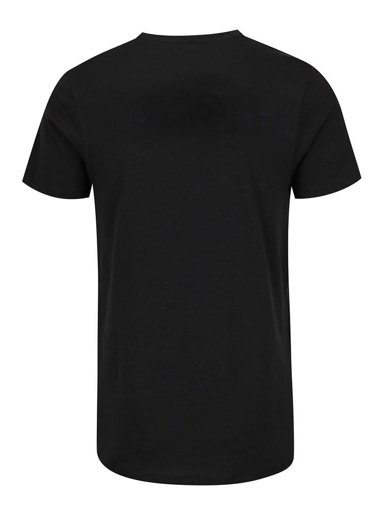 Tricou negru Jack & Jones Mango cu print