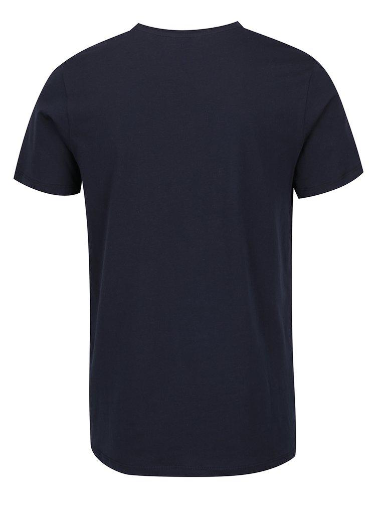 Tricou bleumarin Jack & Jones Mango cu print