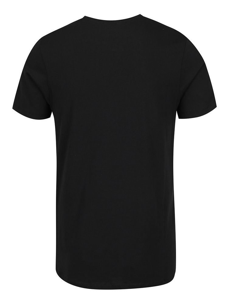 Černé triko s potiskem Jack & Jones Mango