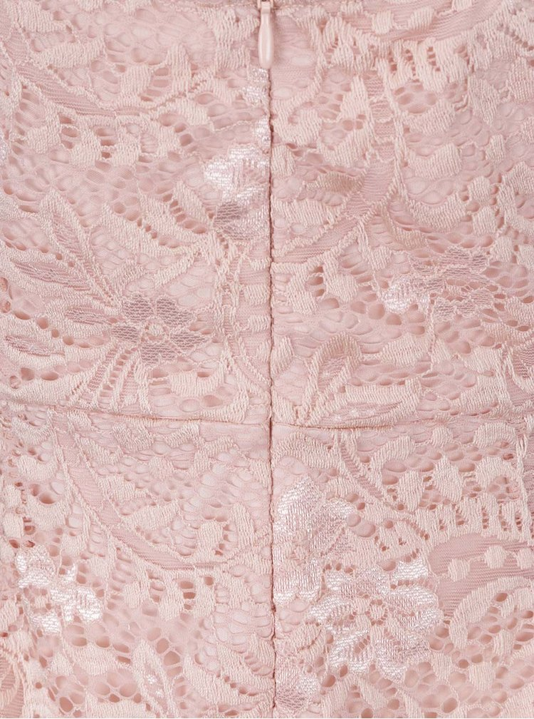 Rochie roz pal ONLY Sierra din dantelă